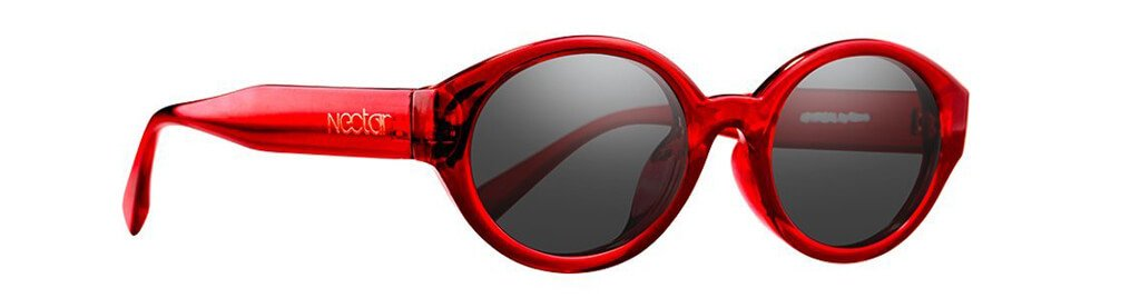V2 Atypical // Transparent Red Frame - Black Lens