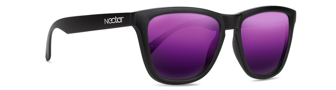 Crux // Matte Black - Purple Mirror